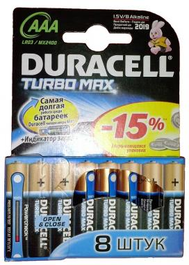 Батарейка DURACELL LR03 TURBO BP-4